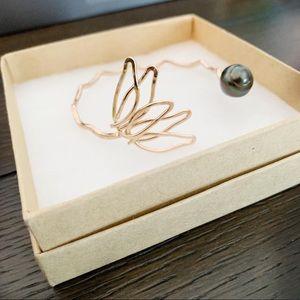 Jewelry - Beautiful handmade one of a kind lotus cuff